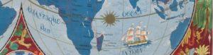 Histoire des épices dans le monde mappemonde de Lucien Boucher 1950 collection personnelle