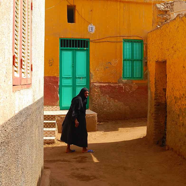 Un ruelle dans l'Ile Elephantine à Assouan