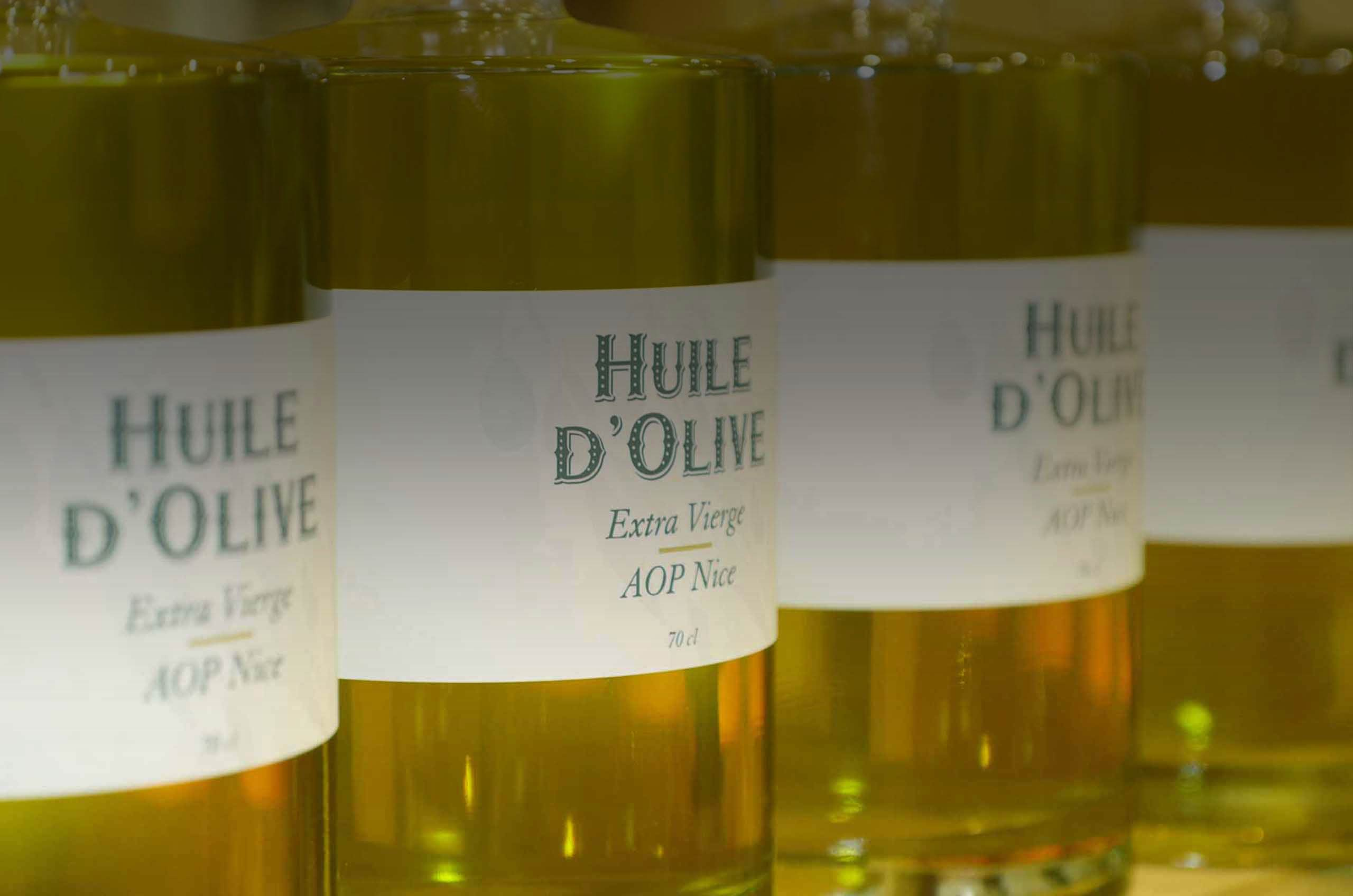 Huile d'olive extra vierge aop nice