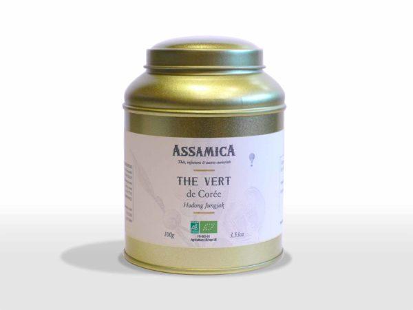 thé vert de corée du sud hadong jungjak bio